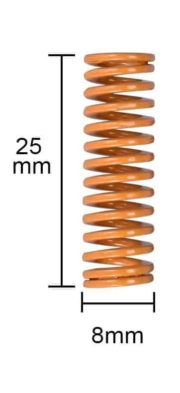 """קפיצים איכותיים עשויים מתכת למיטת הדפסה של מדפסת תלת מימד (קוטר חיצוני 8 מ""""מ)"""