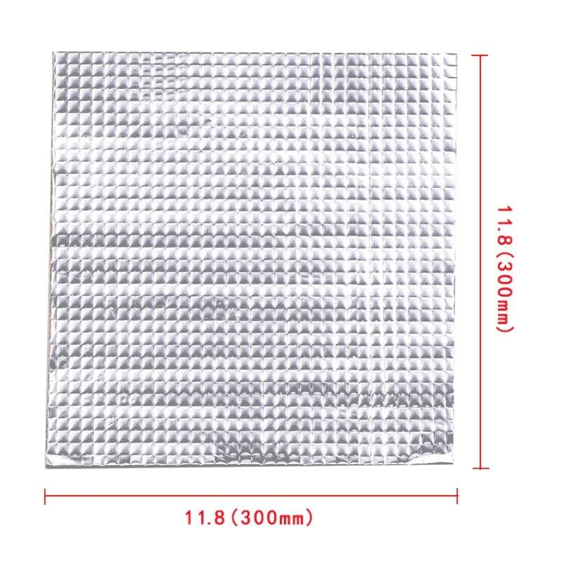 """משטח נדבק (בעזרת מדבקה) למיטת הדפסה של מדפסת תלת מימד, עשוי מכותנה בעובי 10 מ""""מ, מבודד קול ומתאים להגנה על מיטת הדפסה ושמירה מחום."""