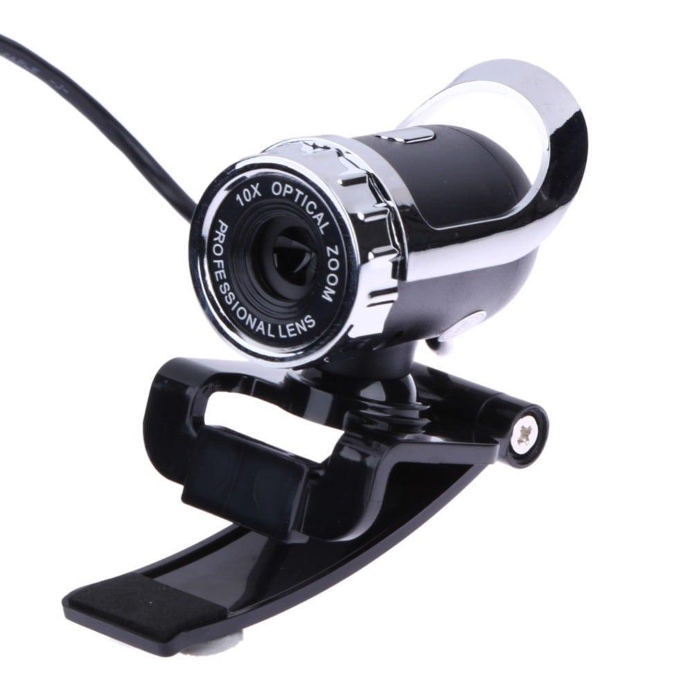 מצלמת אינטרנט באיכות גבוהה וזום אוטומטי למחשב עם מיקרופון, על קליפס, מתחברת בקלות עם חיבור USB.