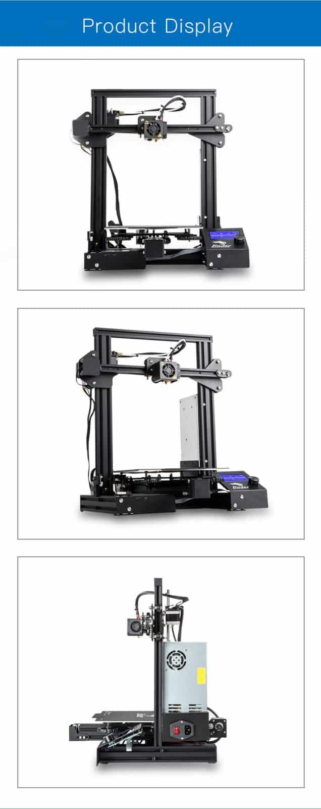 מדפסת תלת מימד אנדר 3 Ender-3 3D DIY Printer
