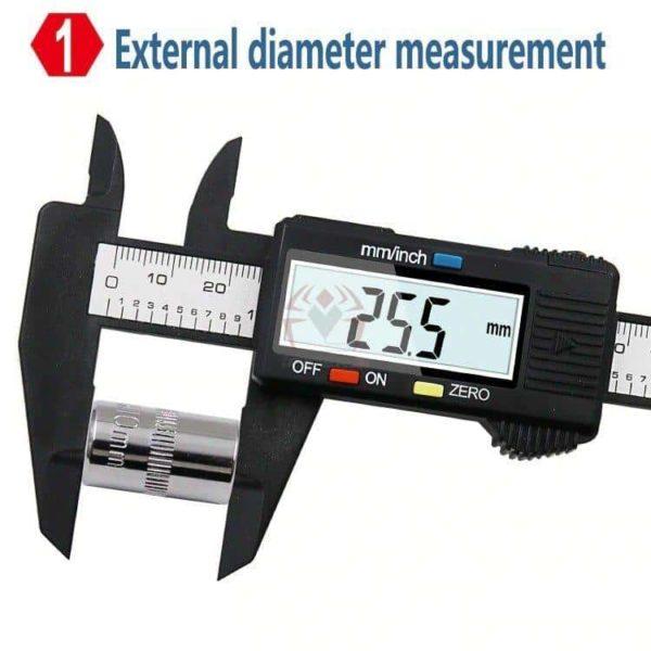 קליבר דיגיטלי Digital Caliber(מד זחיח דיגיטאלי) מודד במדויק, נוח לשימוש. טווח מדידה: 0-150-2800