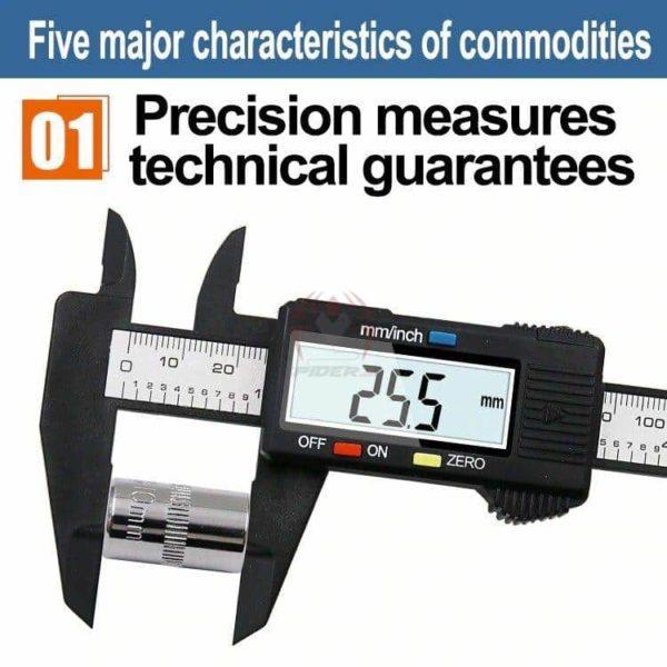 קליבר דיגיטלי Digital Caliber(מד זחיח דיגיטאלי) מודד במדויק, נוח לשימוש. טווח מדידה: 0-150-2813