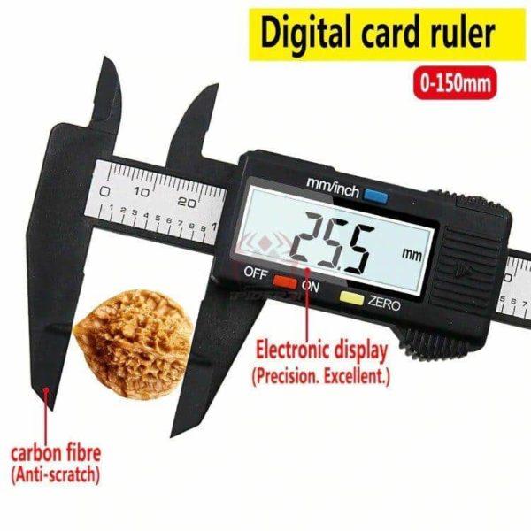 קליבר דיגיטלי Digital Caliber(מד זחיח דיגיטאלי) מודד במדויק, נוח לשימוש. טווח מדידה: 0-150-2809