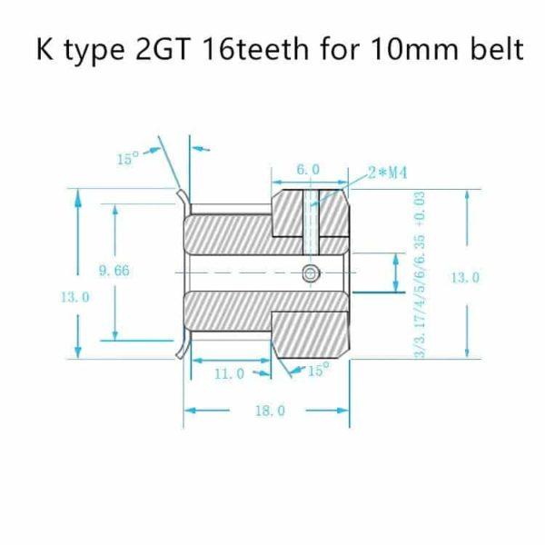 פולי-גלגלת pulley שיניים 60 שיינים - זוג -2746