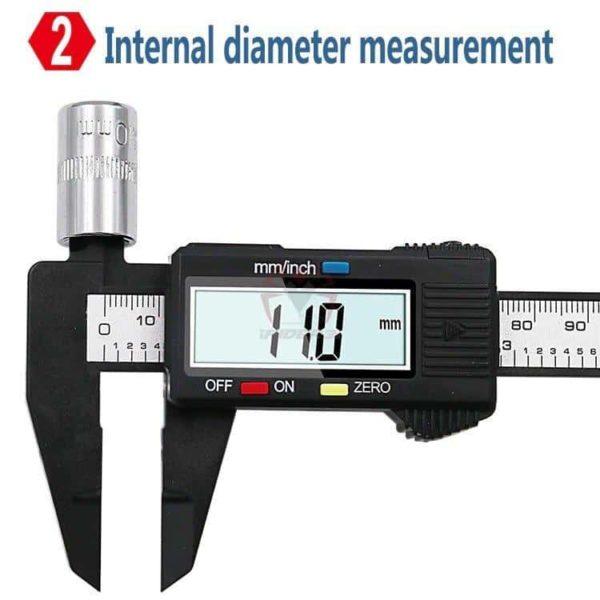 קליבר דיגיטלי Digital Caliber(מד זחיח דיגיטאלי) מודד במדויק, נוח לשימוש. טווח מדידה: 0-150-2811