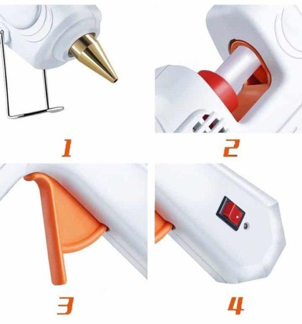 אקדח דבק חם מקצועי 100W -2122