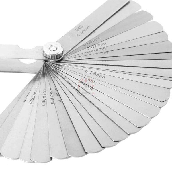 סט מניפה של 32 להבים למדידת עובי הדפסה מ0.04ממ -0.88ממ עשוי פלדה קפיצית-2257