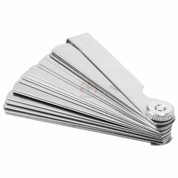 סט מניפה של 32 להבים למדידת עובי הדפסה מ0.04ממ -0.88ממ עשוי פלדה קפיצית-2255