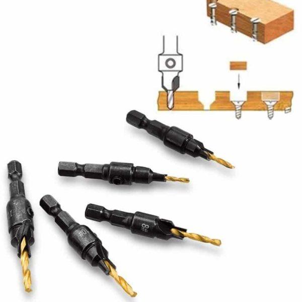 ראש קידוח עץ Wood Drill Bit Set (ביטים לעץ) הביטים טובים, עובדים מצויין. 5 יחידות, קוטר: 12-5 ממ-2185