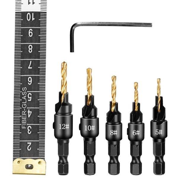 ראש קידוח עץ Wood Drill Bit Set (ביטים לעץ) הביטים טובים, עובדים מצויין. 5 יחידות, קוטר: 12-5 ממ-2179