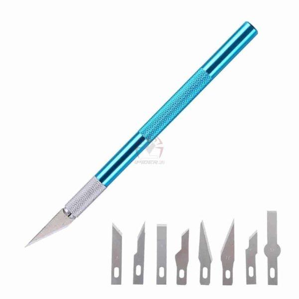 סכין דקה ומדויקת עם אפשרות להוספת 5 להבי ראש מתחלפים-0