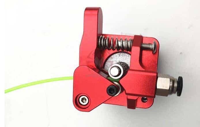 זרוע אקסטרודר אלומניום מחוזק - דואל בעלת 2 גלגלי שיניים למניעת החלקת החוט ובמיוחד לחומרים גמישים-3298