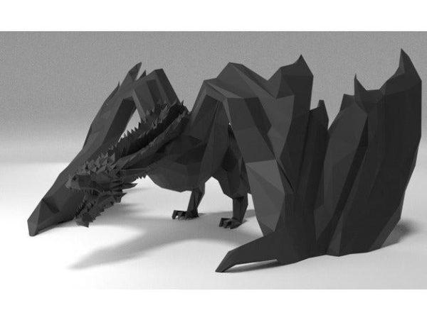 דרקון משחקי הכס ענק ומדהים קובץ STL הורדה והדפסה בתלת מימד חינם-3427