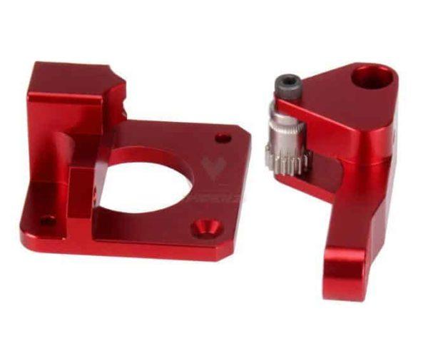 זרוע אקסטרודר אלומניום מחוזק - דואל בעלת 2 גלגלי שיניים למניעת החלקת החוט ובמיוחד לחומרים גמישים-4250