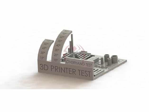 בדיקת הדפסות מקיפה קובץ STL הורדה והדפסה בתלת מימד חינם-0