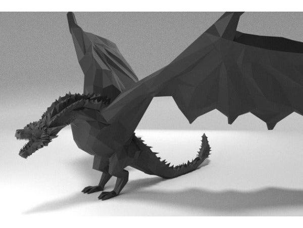 דרקון משחקי הכס ענק ומדהים קובץ STL הורדה והדפסה בתלת מימד חינם-3429
