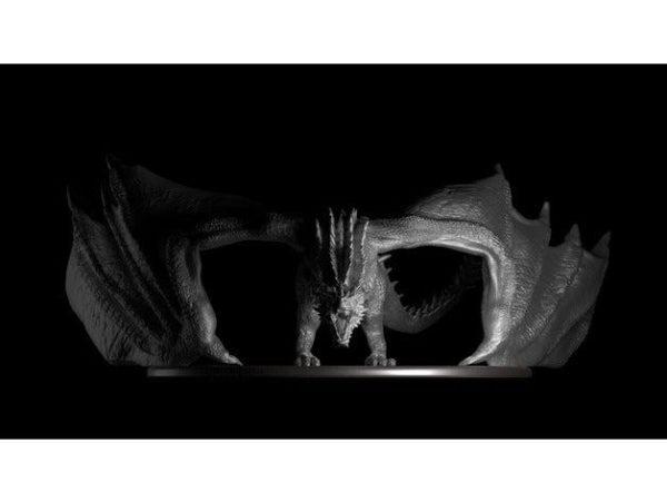 דרקון משחקי הכס ענק ומדהים קובץ STL הורדה והדפסה בתלת מימד חינם-3428