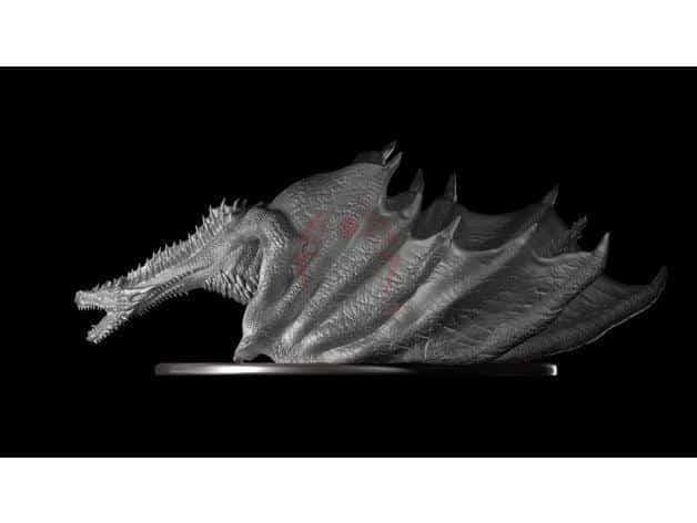 דרקון משחקי הכס ענק ומדהים קובץ STL הורדה והדפסה בתלת מימד חינם-0