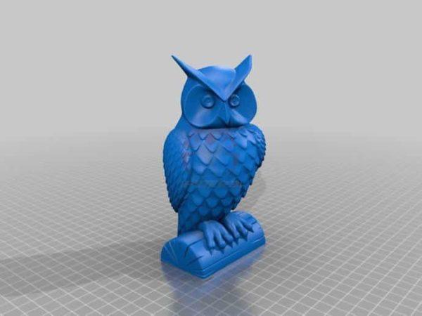 owl ינשוף - קובץ STL להורדה והדפסה בתלת מימד בחינם!-0