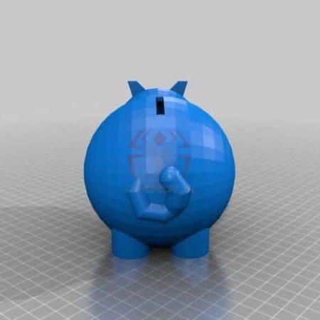 חזיר קופת חיסכון - קובץ STL הורדה והדפסה בתלת מימד בחינם!-0