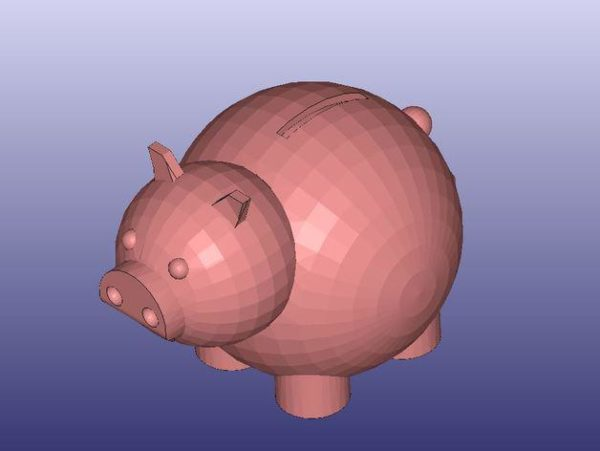 חזיר קופת חיסכון - קובץ STL הורדה והדפסה בתלת מימד בחינם!-3677