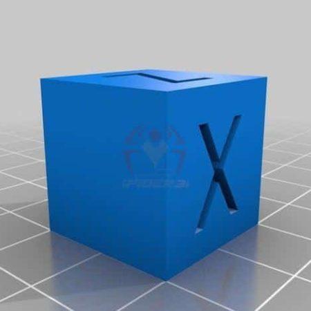 קוביית xyz לבדיקת הכיול במדפסת - קובץ STL הורדה והדפסה בתלת מימדבחינם -0