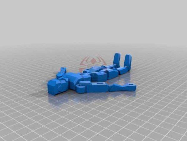 רובוט מגניב להדפסה, מודפס כיחידה אחת עם צירים זזים - קובץ STL להורדה חינם להדפסה בתלת מימד-3909
