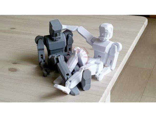 רובוט מגניב להדפסה, מודפס כיחידה אחת עם צירים זזים - קובץ STL להורדה חינם להדפסה בתלת מימד-3907