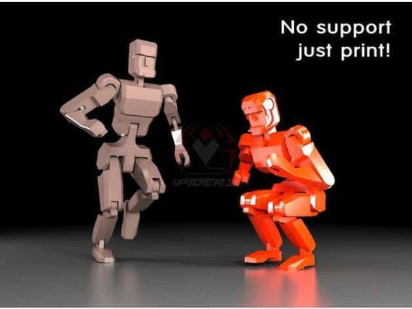 רובוט מגניב להדפסה, מודפס כיחידה אחת עם צירים זזים - קובץ STL להורדה חינם להדפסה בתלת מימד-0