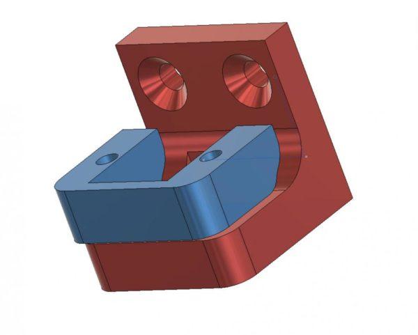 מחבר חיישן גובה Bltouch עבור CR-10S-PRO קוב. STL להורדה והדפסה בתלת מימד-0