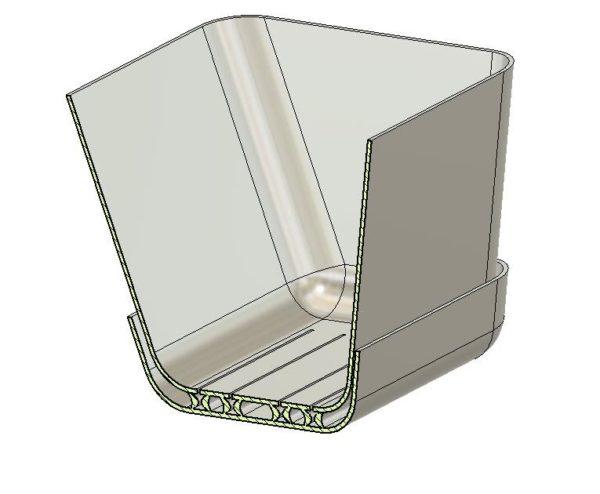 אדנית חכמה כולל איסוף מים ביחידה אחת -קובץ STL להורדה והדפסה בתלת מימד-3948