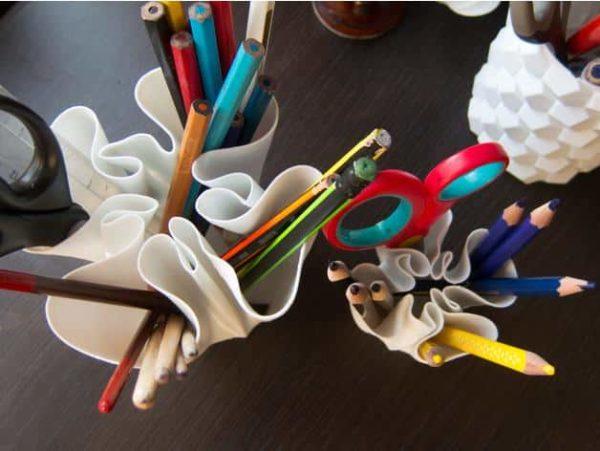 כוס מעוצבת לעטים ועפרונות - קובץ STL להורדה והדפסה בתלת מימד-3844