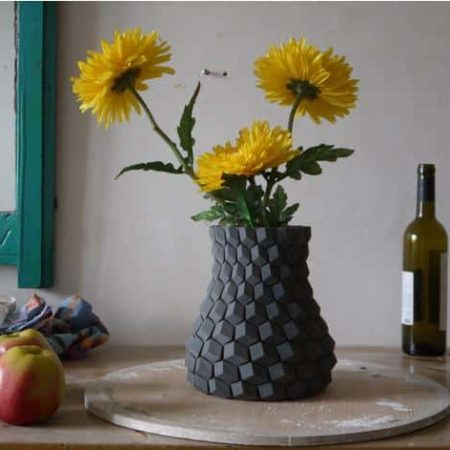 אגרטל פרחים מעוצב - קובץ STL להורדה והדפסה בתלת מימד חינם-0