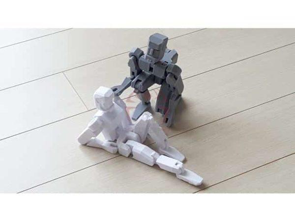 רובוט מגניב להדפסה, מודפס כיחידה אחת עם צירים זזים - קובץ STL להורדה חינם להדפסה בתלת מימד-3914