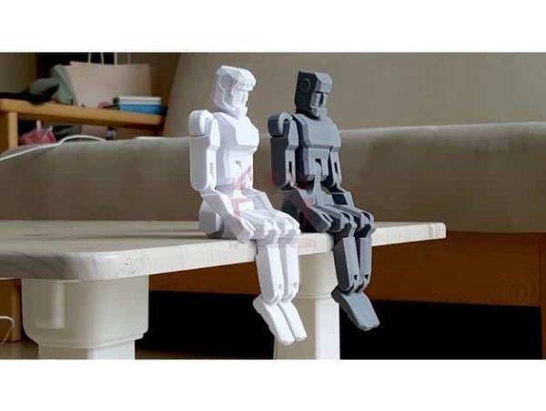 רובוט מגניב להדפסה, מודפס כיחידה אחת עם צירים זזים - קובץ STL להורדה חינם להדפסה בתלת מימד-3911