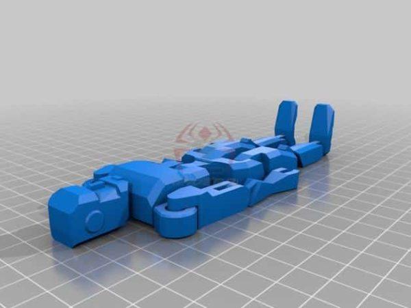 רובוט מגניב להדפסה, מודפס כיחידה אחת עם צירים זזים - קובץ STL להורדה חינם להדפסה בתלת מימד-3913