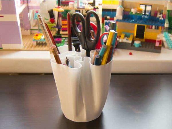 כוס מעוצבת לעטים ועפרונות - קובץ STL להורדה והדפסה בתלת מימד-3846