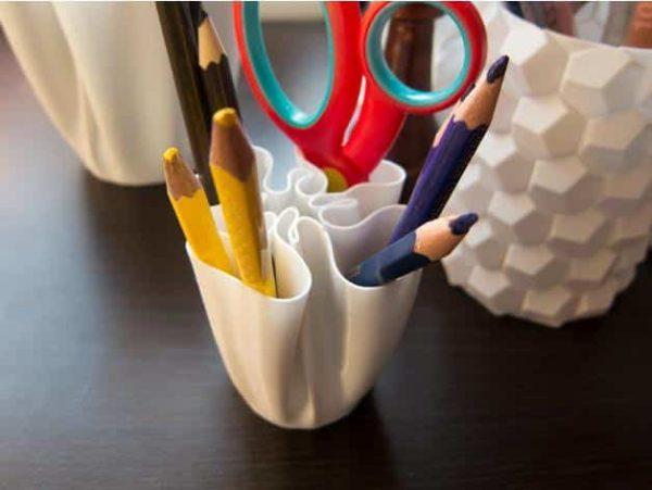 כוס מעוצבת לעטים ועפרונות - קובץ STL להורדה והדפסה בתלת מימד-3842