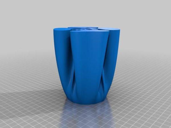 כוס מעוצבת לעטים ועפרונות - קובץ STL להורדה והדפסה בתלת מימד-3841
