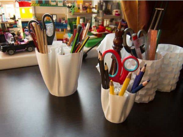כוס מעוצבת לעטים ועפרונות - קובץ STL להורדה והדפסה בתלת מימד-3843