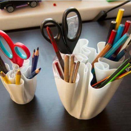 כוס מעוצבת לעטים ועפרונות - קובץ STL להורדה והדפסה בתלת מימד-0