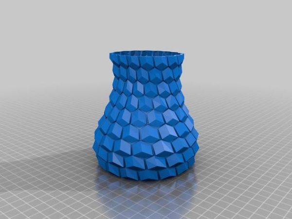 אגרטל פרחים מעוצב - קובץ STL להורדה והדפסה בתלת מימד חינם-3925