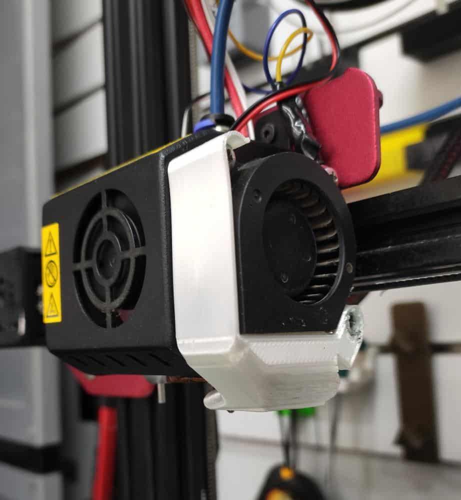 תעלת אוויר למפוח ( בלאוור ) מחוזק למדפסת CR-10S PRO קובץ STL להורדה והדפסה בתלת מימד-0