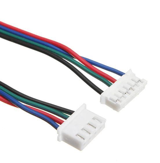 כבל / צמת חוטים חשמל למנוע צעד stepper באורך 1 מטר-4497