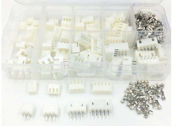 מארז מחברים ופינים - סט הכולל 60 יחידות של פינים מסוגים שונים-4369