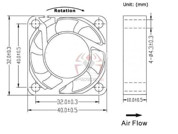 fan 40*40*10 3d printer