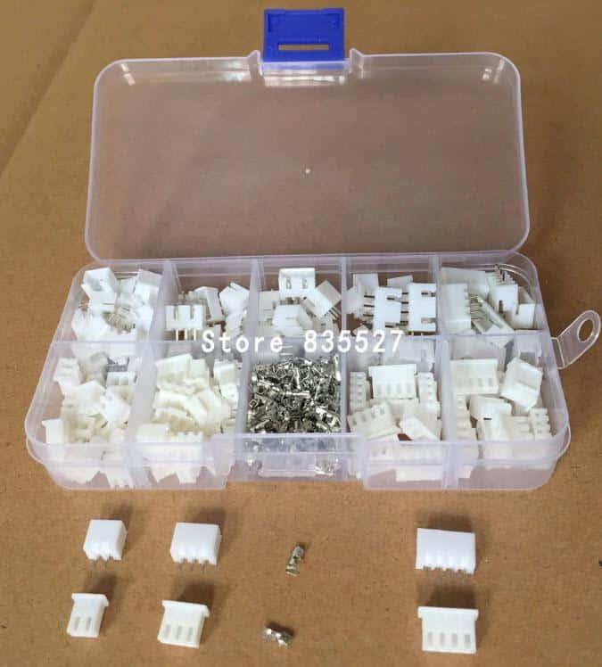 מארז מחברים ופינים - סט הכולל 60 יחידות של פינים מסוגים שונים-4284
