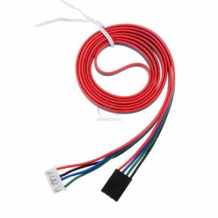 כבל 1 מ' למנועי צעד ולנמה NEMA 17 מחבר dupont דופונט 4 פינים ומחבר 6 פינים דגם XH2.54 -4128