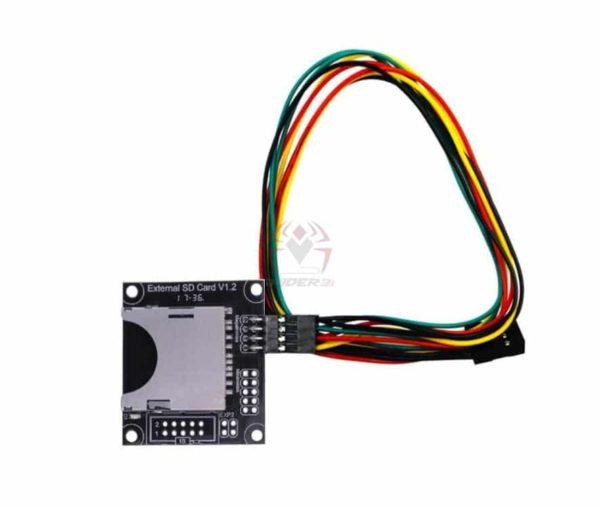 מתאם כרטיס SD חיצוני מאלומיניום כולל כבל חיבור-0