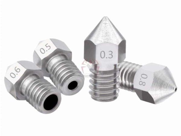 דיזה MK8 ראש למדפסת תלת מימד מנירוסטה חזקה במיוחד חיי מדף ארוכים ועמידות לחום גבוה MK8 3D printer nozzle -4400
